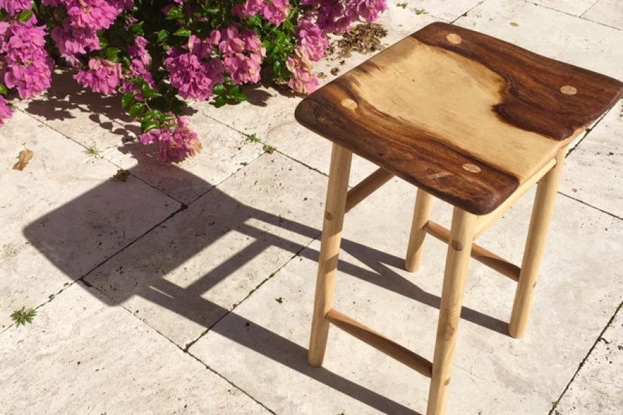 rustic cello stool